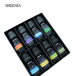 In Stock 8pcs/set Organic Aromatherapy 100% Pure Beauty Skin Body Oil Body Fragrance Massage Essential Oil Gift Set