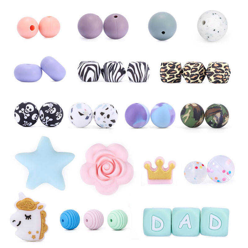 BD01 Free Sample Silicone Teething Bead, Jewelry Wholesale China, Food Grade Silicone Bead
