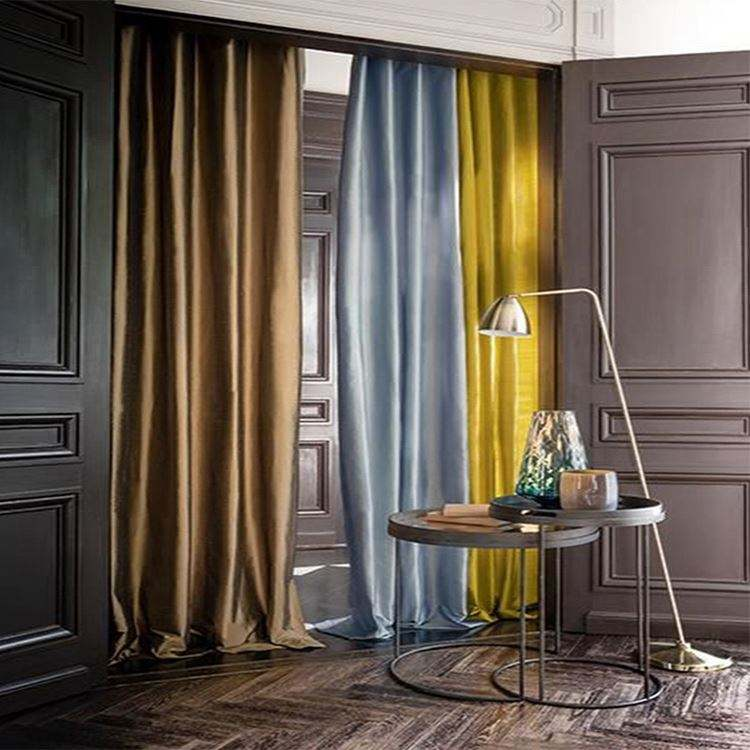 Grey Curtains Faux Silk Window Curtains Living Room 84 inch Length Dupioni Gray Curtain Panels Bedroom Grommet Top Window Treatm