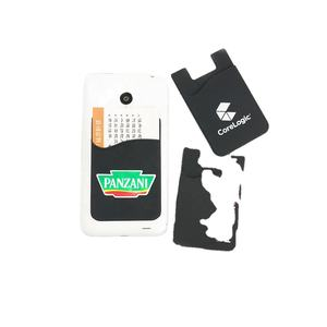 Custom 3m sticker mobile phone silicone card holder