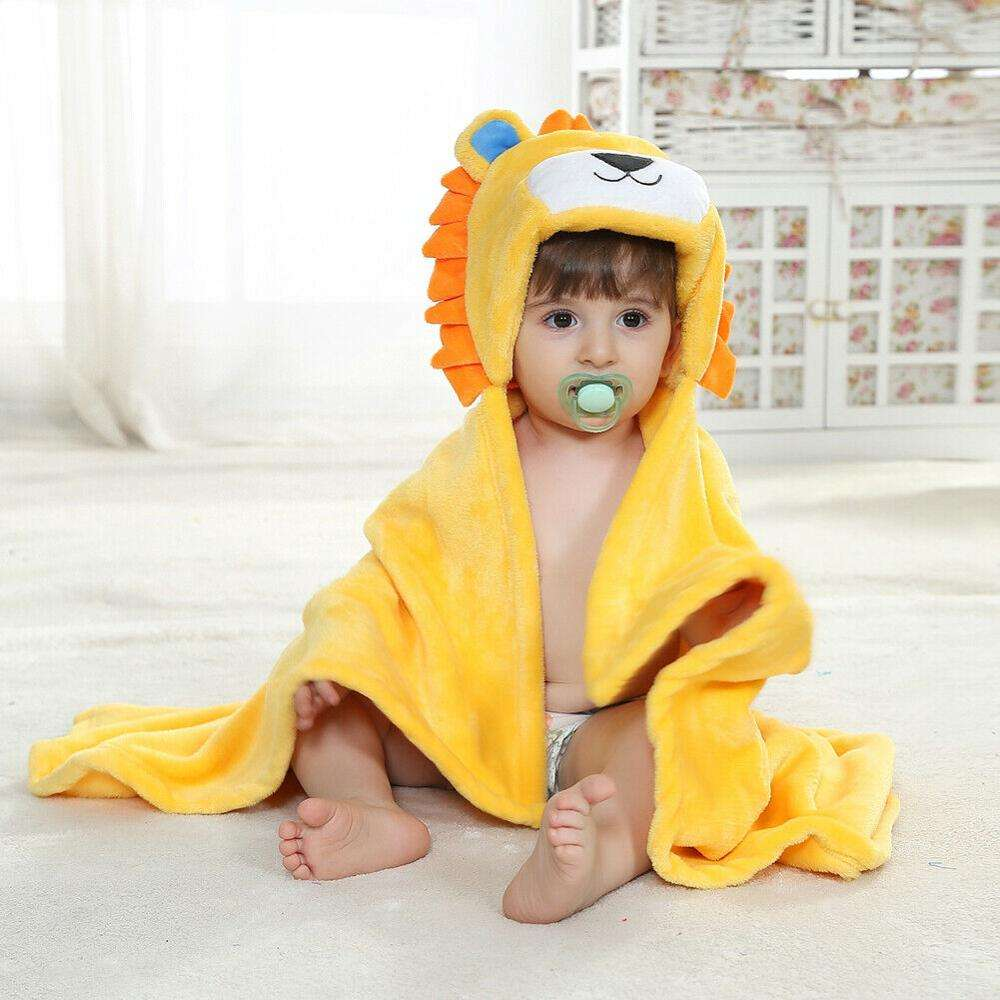100% cotton embroidery hooded towels, animal design baby hooded towel with hood