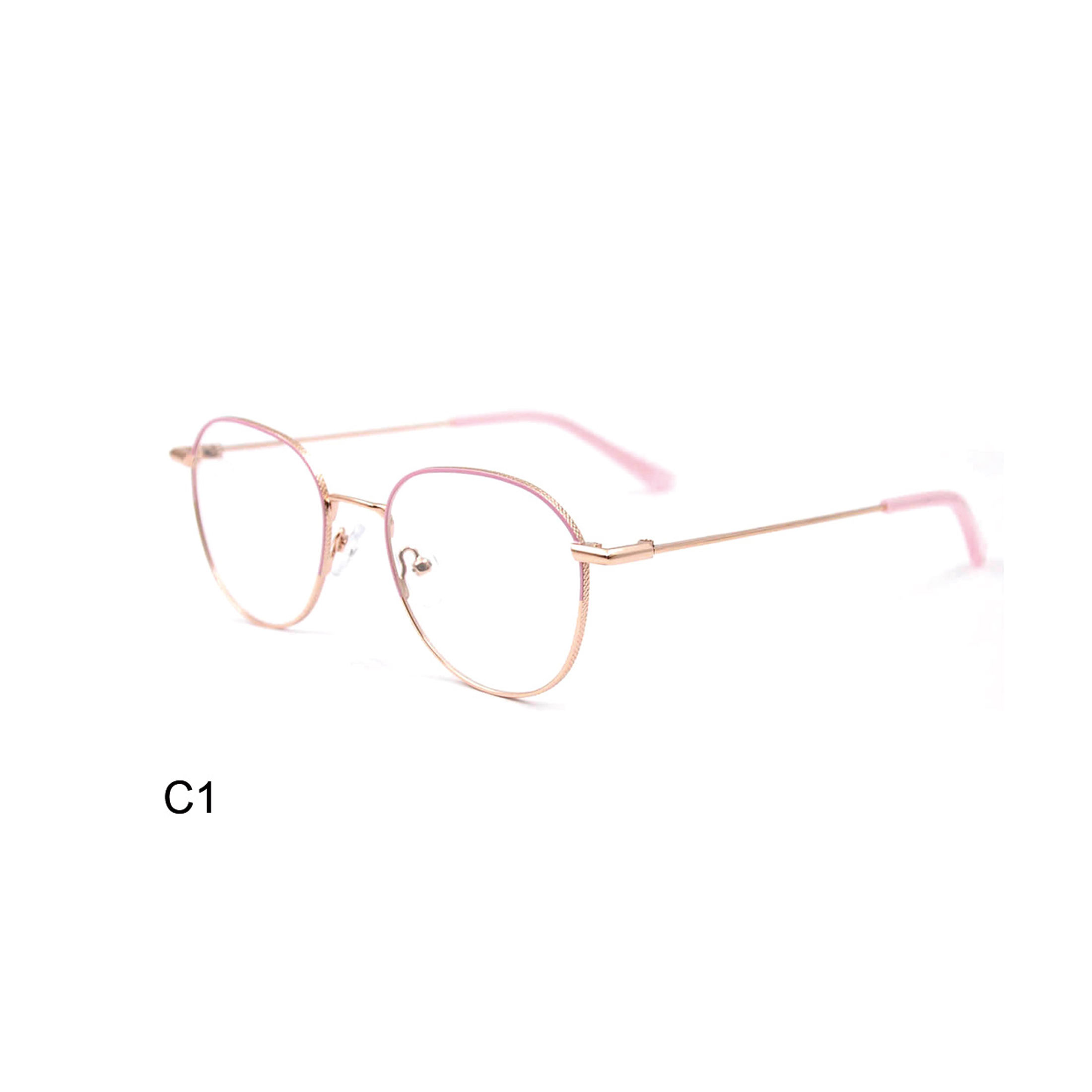 Most Popular HIGO CE Certified Metal Oval Eye Glasses Frame for Woman