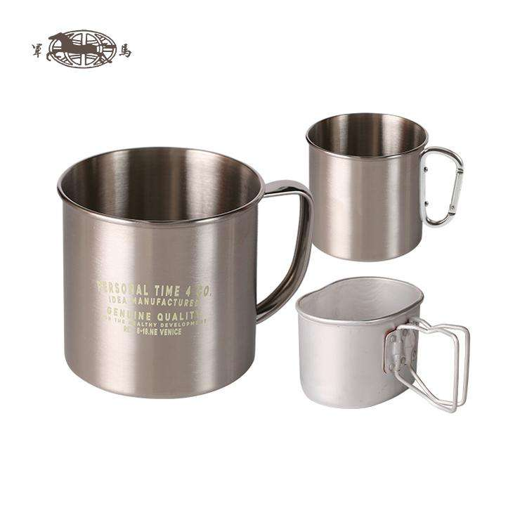 wholesale unbreakable single wall tin stainless steel mug small metal cup 30oz children coffe cups travel cooler camping mug