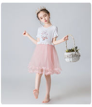2020 summer Baby girl' summer ruffled short sleeve party princess children's dress 1231
