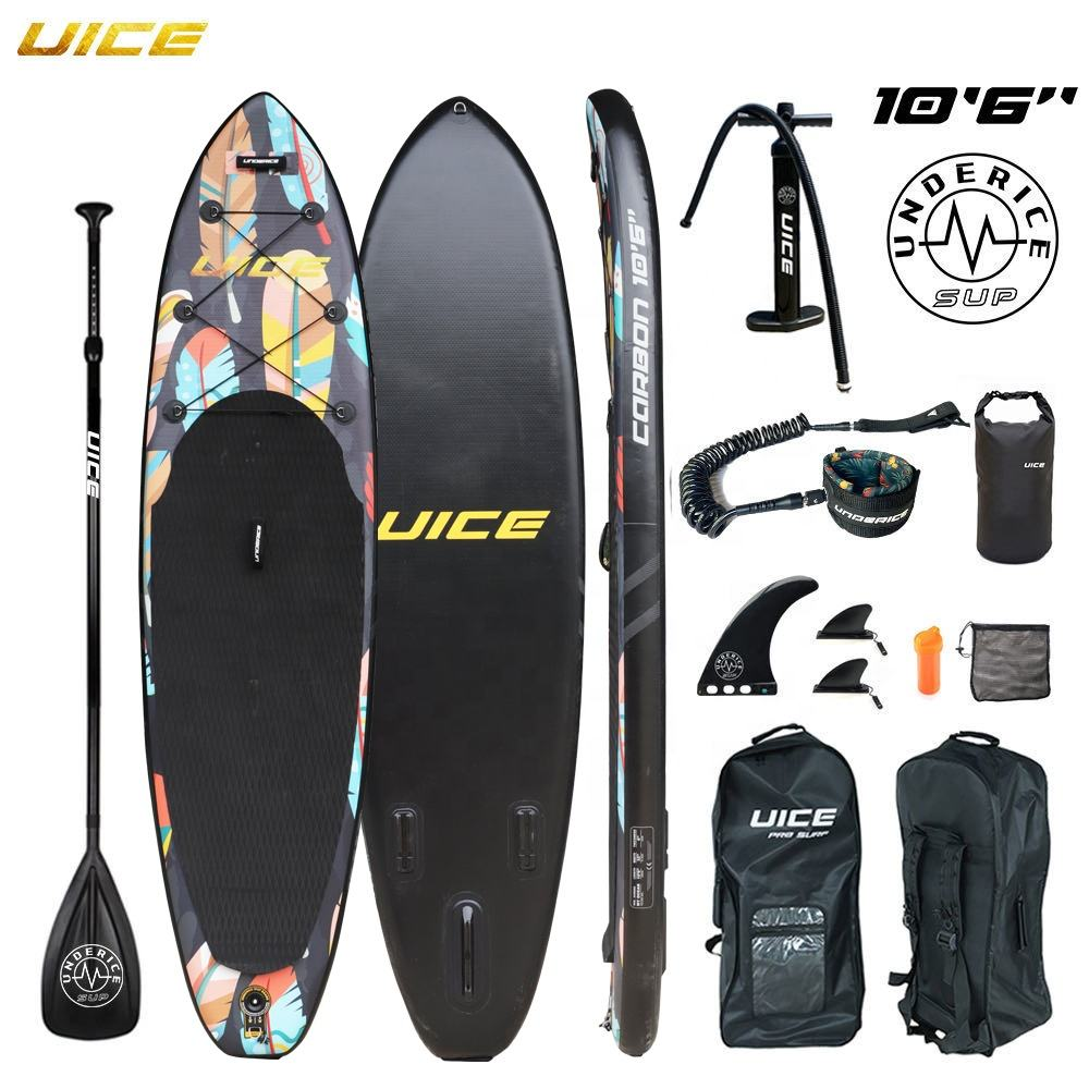 10'6''x32''x6'' /320x81x15cm Premium Quality UICE Double Layer Inflatable Stand Up Paddle Board iSUP Air board