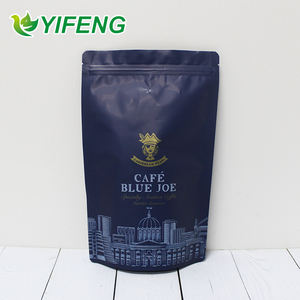 Freeze Dried Packaging Fully Biodegradable Bags Custom Digital Printing 250 Grams Printed Bean Standup Colorful Coffee Bag