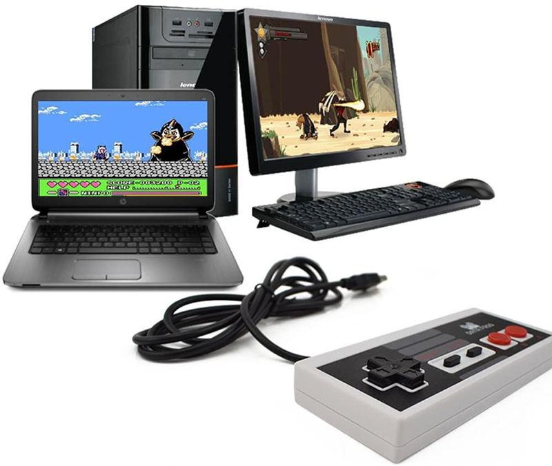 2 Packs Classic USB Controller for Laptop Computer Windows PC/MAC/Ras