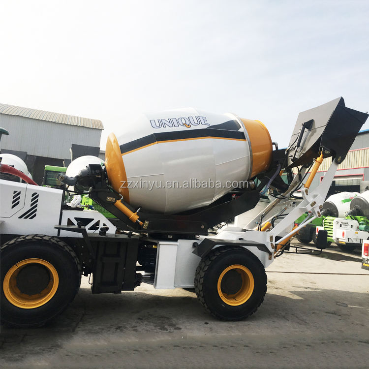 China Factory Price mini hydraulic self loading concrete mixer