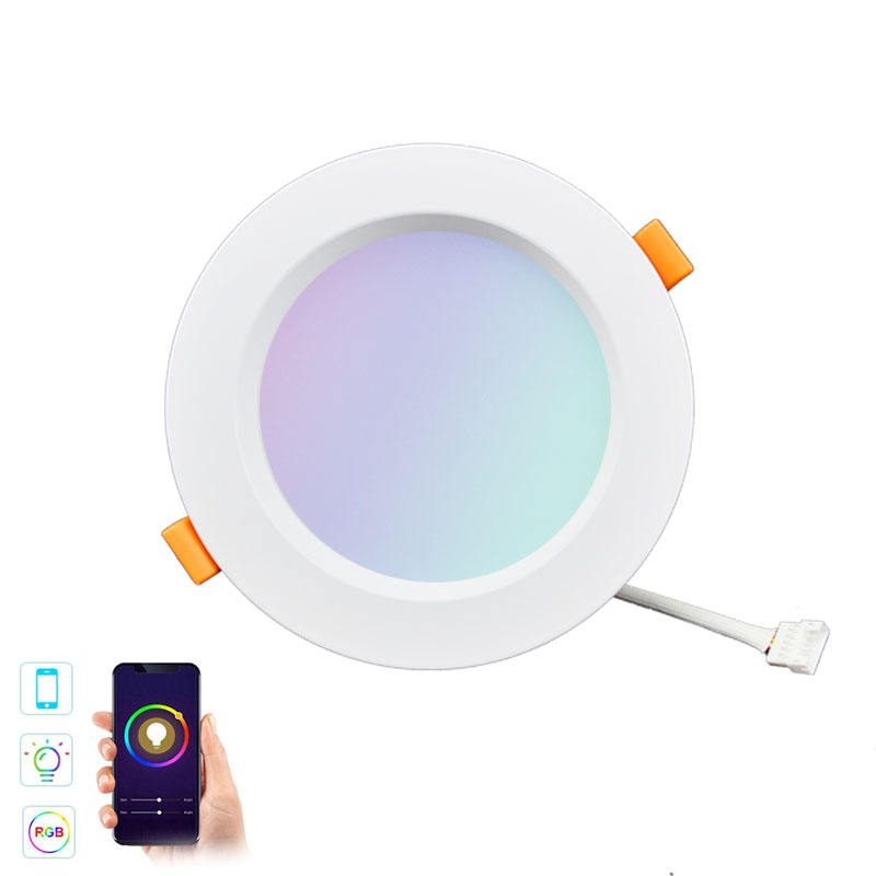 4 inch WiFi Smart LED Downlight Dimmable Round Spot Light 10W RGB CCT Color Changing Warm Cold Smart Light LED Light with Alexa