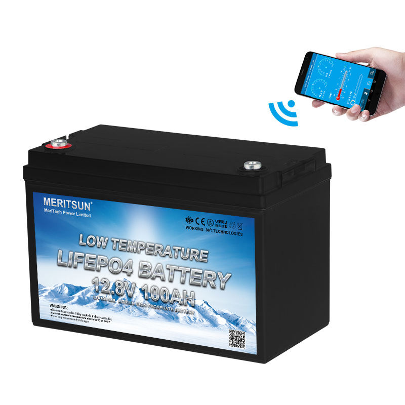 Low Temperature Lifepo4 12v 100ah Lithium Ion Car Battery With Bluetooth