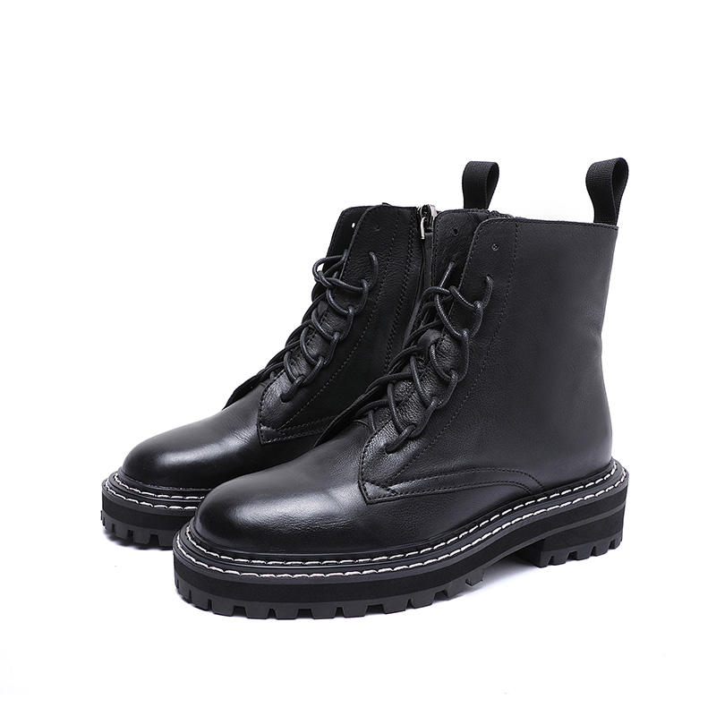 Popular shoes boots women shoes thick bottom zipper Martins leather boots snow women martin boots