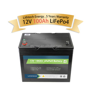 yacht solar lifepo4 12v 100ah lithium iron phosphate battery pack