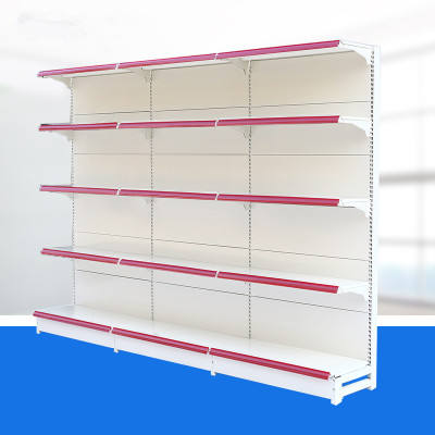 Perforated grocery store shelf shop retail display stand punch hole racks pegboard supermarket gondola shelving