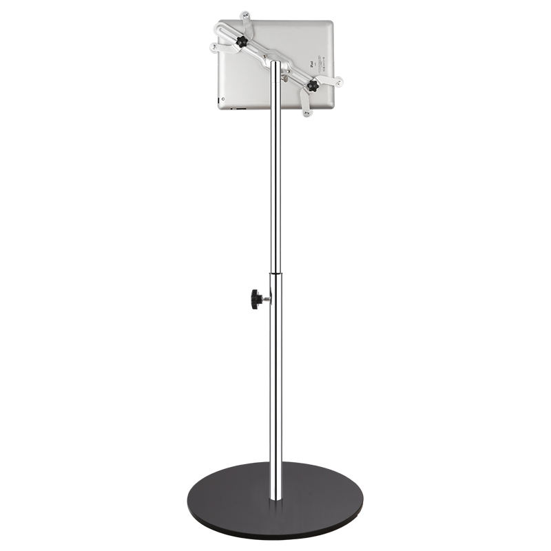 Telescopic Height Adjustable Floor Tablet Security Stand for iPad/Android Tablet Stand Holder for Tablet