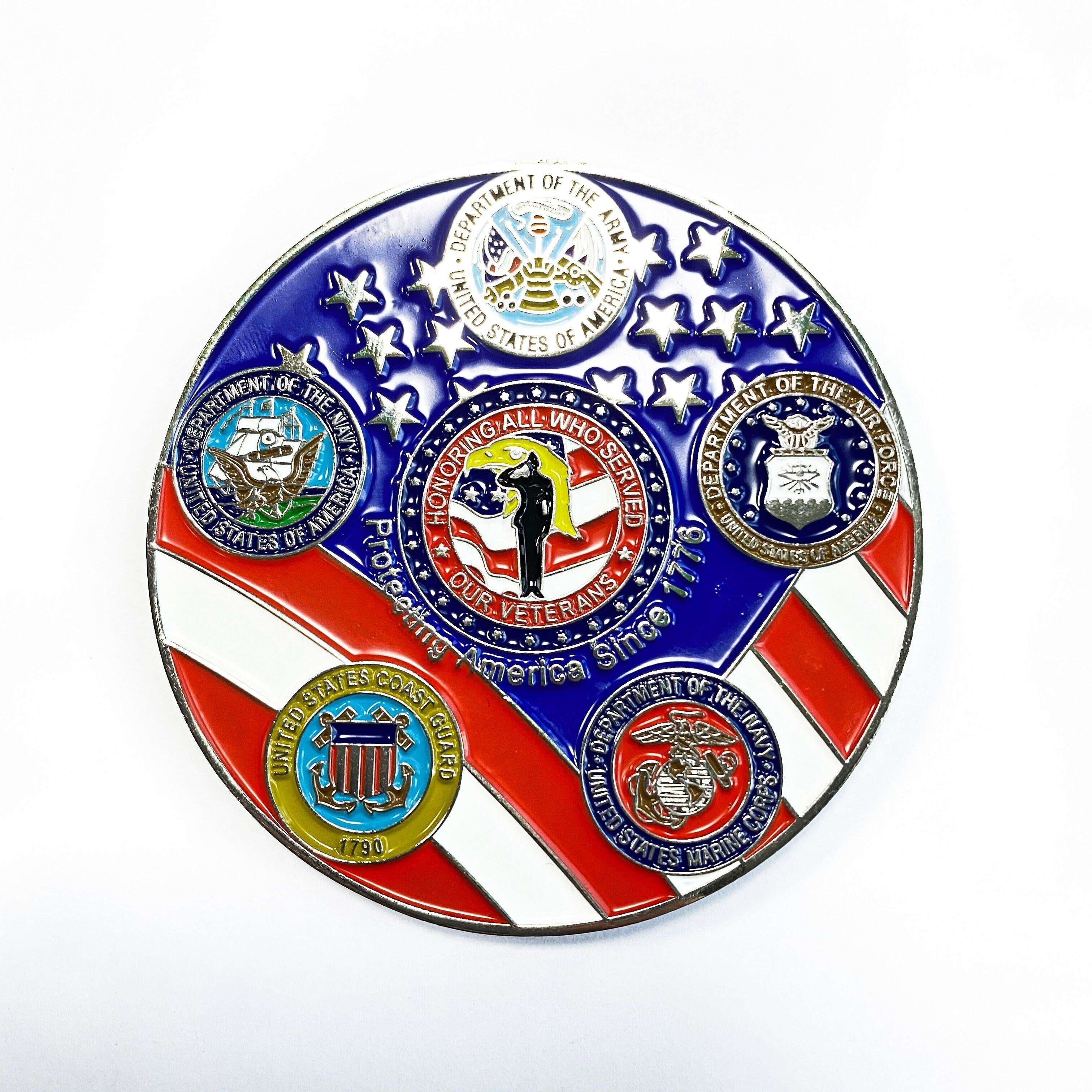 Souvenir Maker US Reserve Army Military Challenge Luxury Coin Gift Box