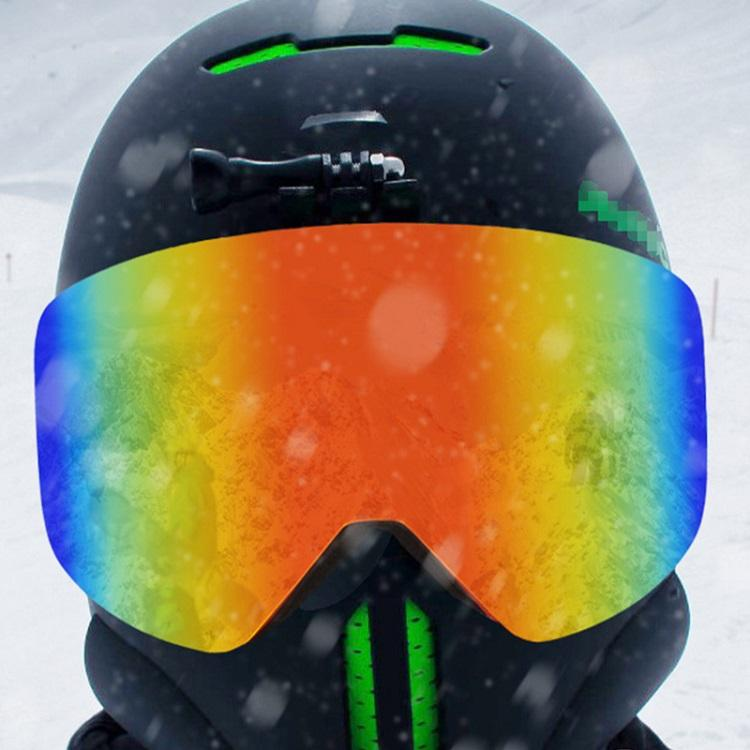 Retro Custom Logo Winter Adults TPU Snowboarding Magnetic Mirrored Ski Glasses Goggles