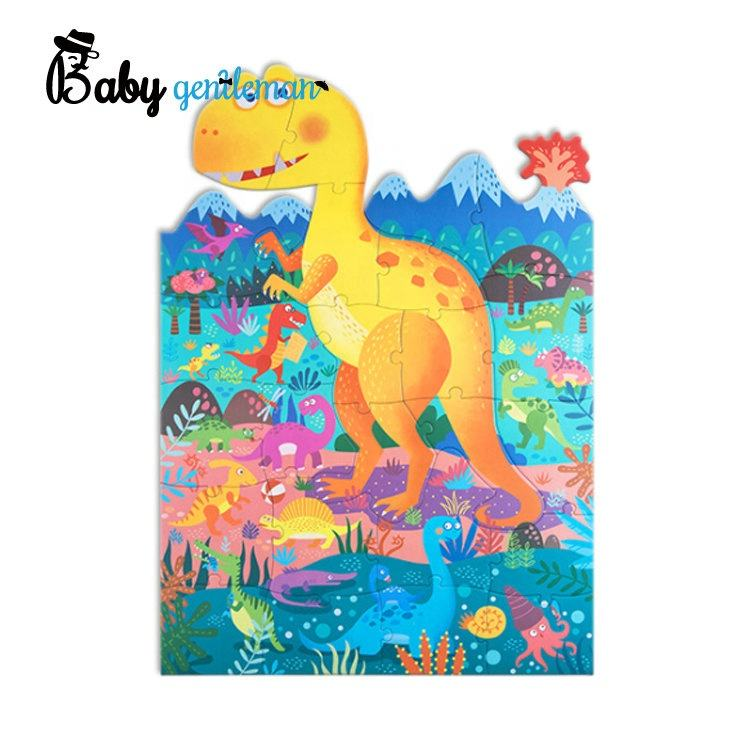 2020 most popular educational wooden dinosaur puzzle for kids Z14292C
