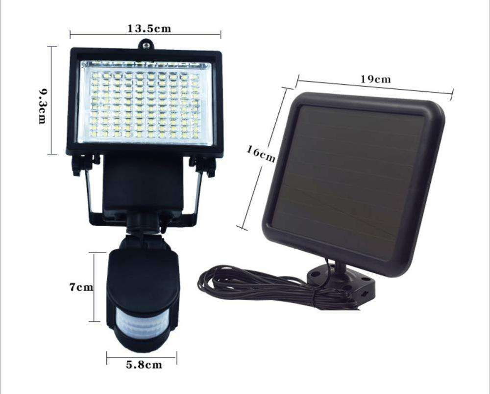 Dedicated to Solar Garden Lights Human 100led Body Induction Double Head Spotlights High Brightness