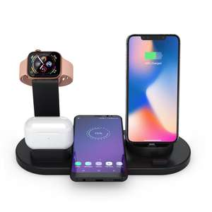 2019 new arrivals 10w wireless charger phone charger for all mobile phones charger stand for apple watch and airpods
