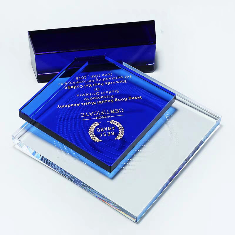 Clear Costomerized Business Wedding Gift Wedge Football Champion Trophy Crystal Sailing Plaque