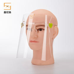 In Stock Disposable Plastic Anti UV Face Shield HengDe PET Protective Face Shield