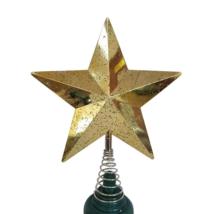 Gifts Crafts Festive Party Christmas Decoration Supplies Glitter Tree Topper Star Shape five-pointed tree topper star
