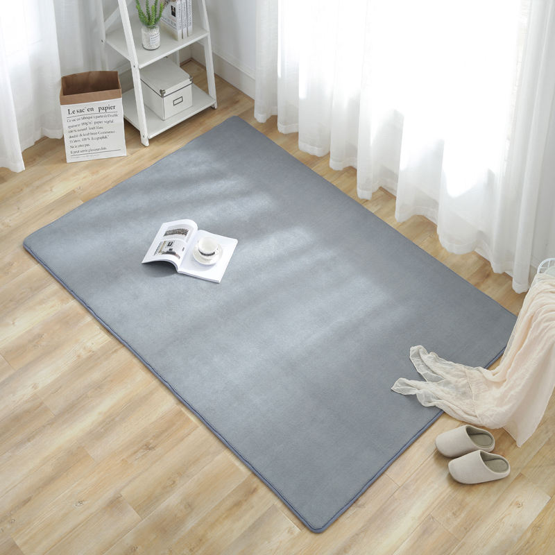 Good Material Modern Pure Color Living Room Mat Healthy Children Playing anti-slip Sofa Carpet