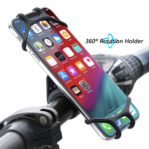 Free Shipping 1 Sample OK Floveme Flexible Bicycle Smartphone Holder 360 Rotation Silicone Bike Mount Mobile Phone Holder