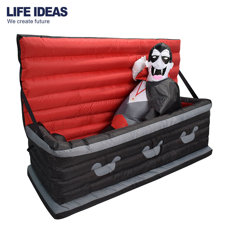 Halloween Inflatable Decoration Hot Sale Promotional Cheap Lighting Halloween Inflatable Vampire Coffin For Yard Outdoor Decor