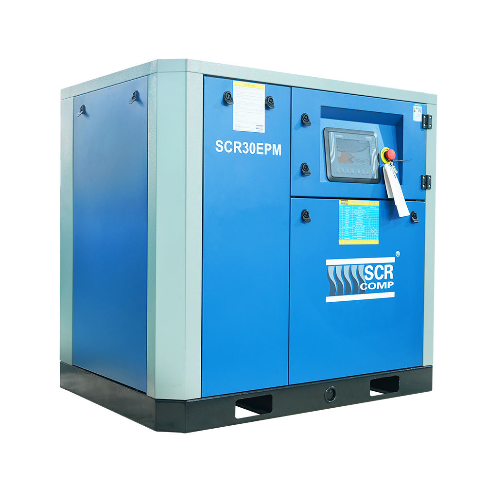 22kw 30hp Shanghai SCR permanent magnetic magnet screw air compressor for Paper factory (SCR30EPM)