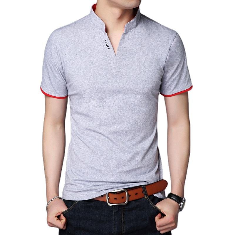 Wholesale fashionable western style stand collar formal style man's polo shirt