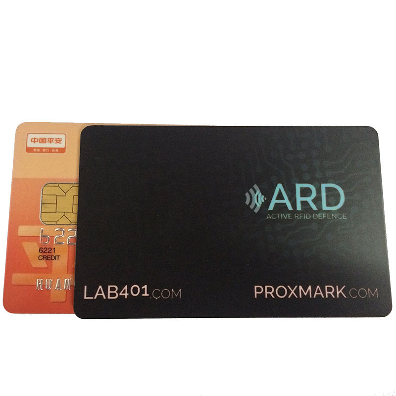 Debit Card E - field PVC RFID Blocking Card for Debit and Credit Card Protector
