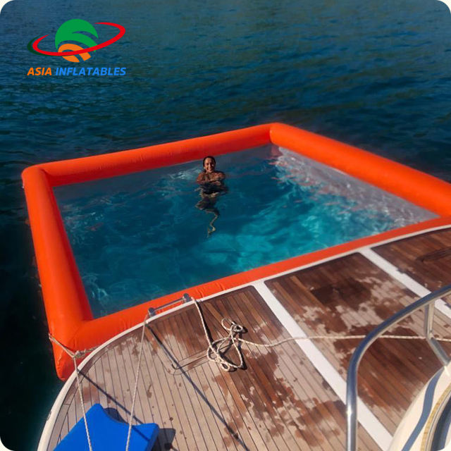 Portable Netted Lap Pool, Box Jellyfish Protection Net, Inflatable pool for yachts