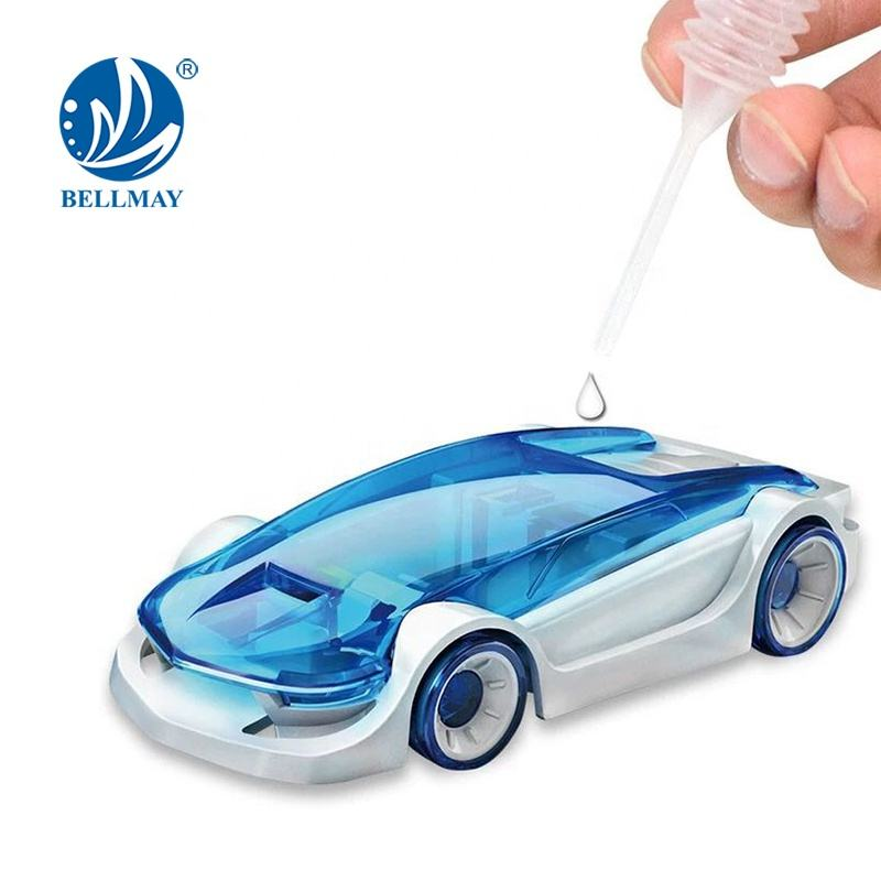 Bemay Toy Science Textbook Toy Knowledge STEM Kid DIY Saline Powered Solar Car Model Toy For Kids