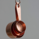 9 Piece Copper Stainless Steel Measuring Cups and Spoons Set with Hanging Loop with Engraved Measurements, Pouring Spouts