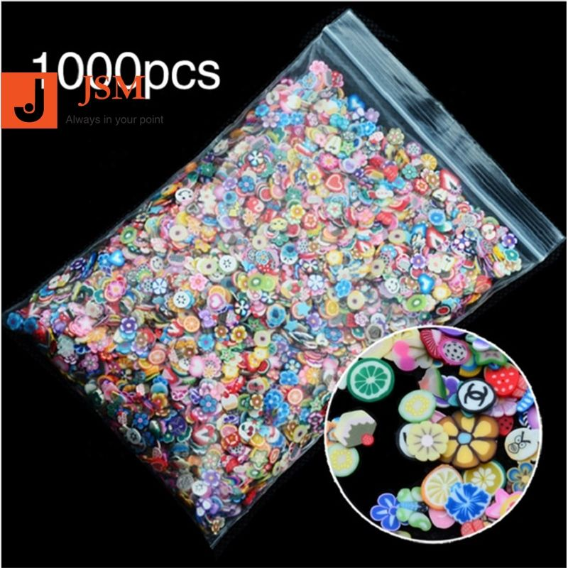 Beautypapa 1pack 5mm Polymeer Klei 3d Nail Art Decoratie Mix Bloemen Fruit Fimo Cane Voor DIY Acryl Nail telefoon Levert