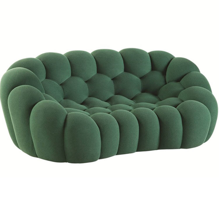 Modern Fabric Upholstery curved 2 or 3 or 4 seat Bubble sofa