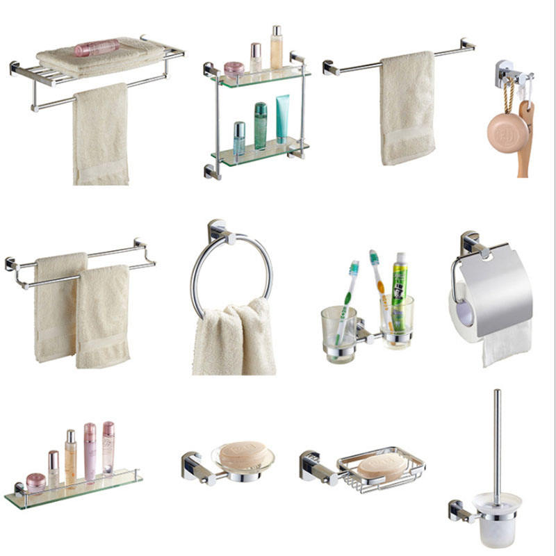 Brass Chrome Wall Mount Bathroom Accessories Bathroom Fittings Sanitary Wares Towel Rack