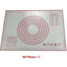 50x70cm nonstick nonslip silicone dough mat with measuring marks silicone dough rolling sheet for fundant