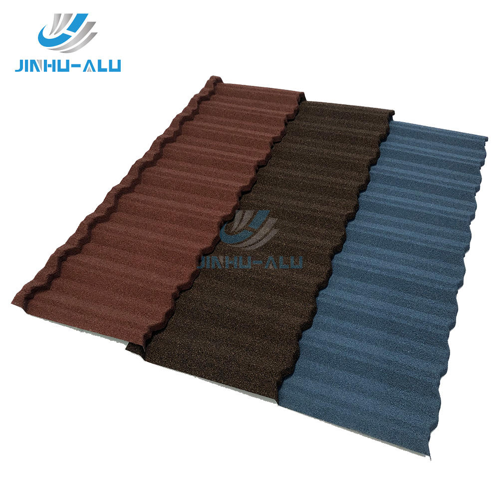 JINHU classic stone coated metal roof of house roofing tile