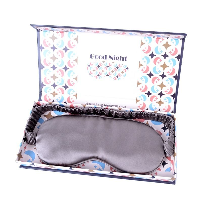 Luxury 19 mommie 100% silk sleeping eye mask the finest silk fillings Double layer filling