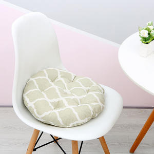 Wholesale cotton fabric printing seat cushion,office floor sofa round seat cushion IN STOCK 40*40cm