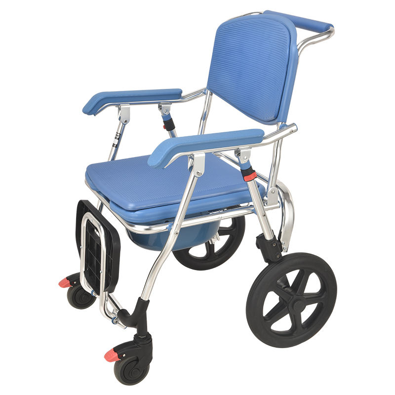 Comfortable Chair Wheels Foldable Wheel Chair Foldable Shower Aluminum Commode Chair With Wheels