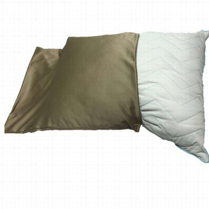 Luxury 100% Copper Pillow Case/Pillow Cover/Pillow Protector With Supersoft Down Alternative Microfiber Pillow