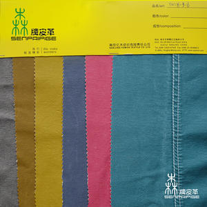 0.65-0.7mm Artificial Washed synthetic PU leather for garment