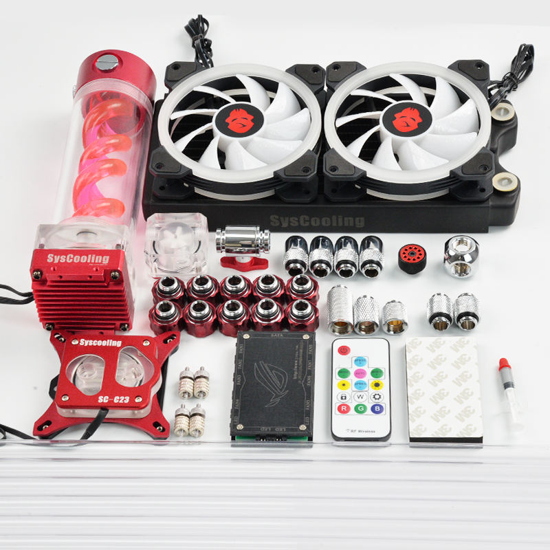 Syscooling water cooling kit for PC Intel AMD CPU water cooling system with RBG support
