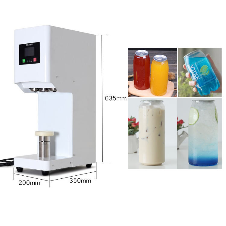 CE Approval Bubble Tea Tin Can Sealing Machine Automatic High Speed Can Sealer and Filling Beer glass jar Can Seamer with 5S