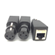 XLR 3 pin female to RJ45 jack adapter black color