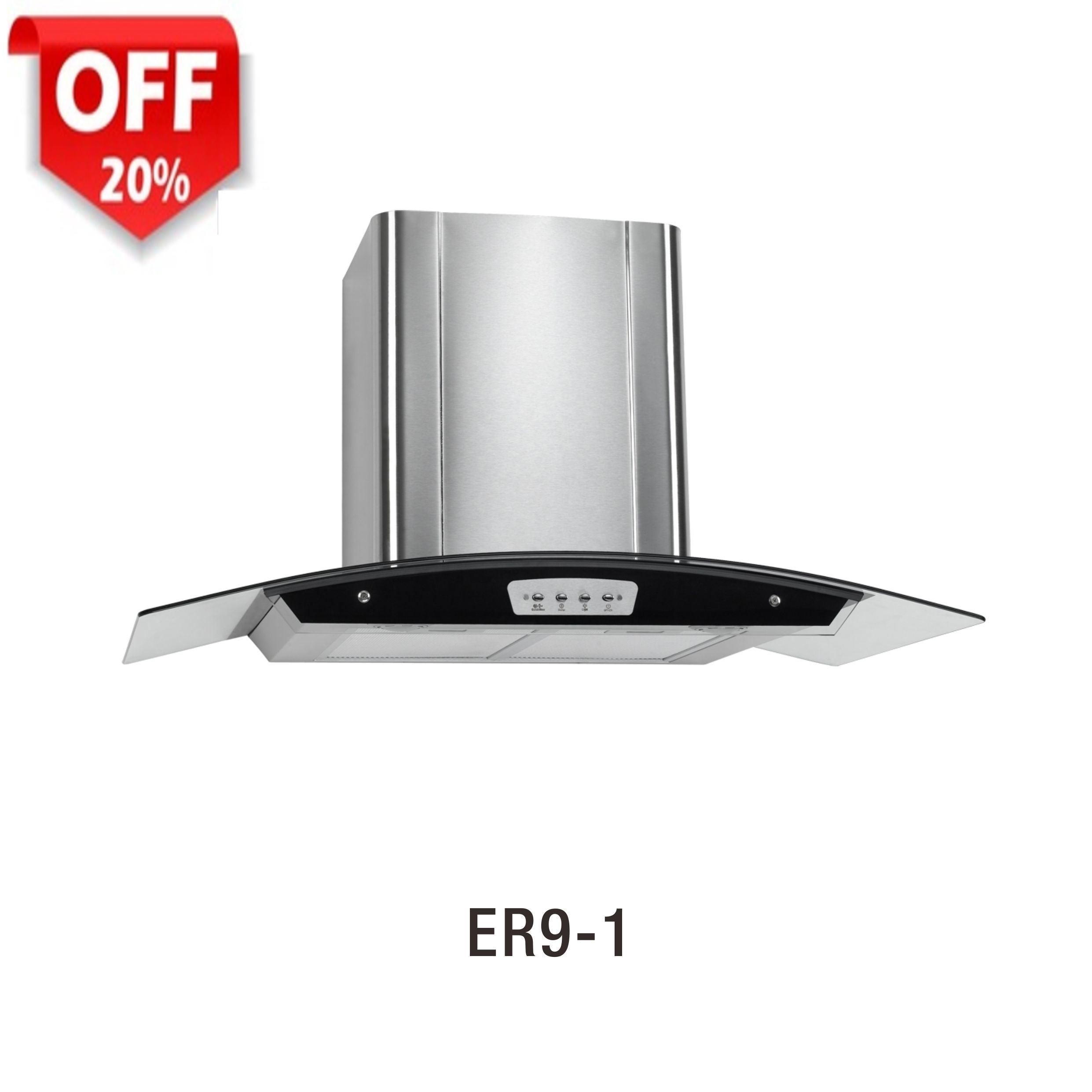 "ER9-1 Chimney cooker Hood Black Stainless Steel 30"" Under Cabine Range Hoods"