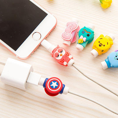 Cute Cartoon Cable Winder Cover USB Charging Protector De Cable Protector